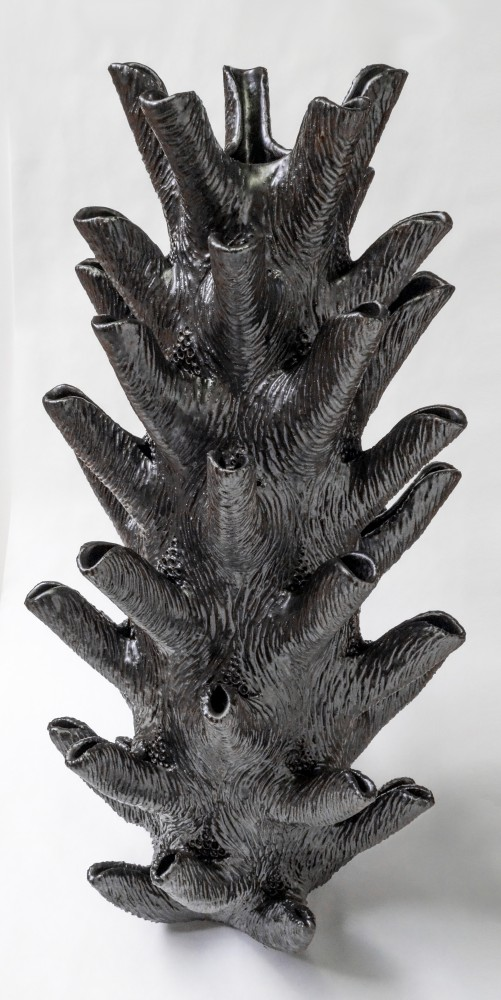 Black Pinecone Vase
