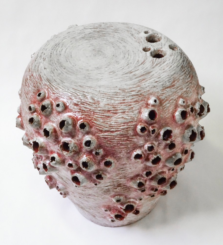 Scarlet Barnacle Stool
